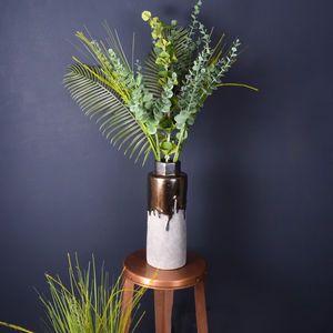 Artificial Eucalyptus And Palm Leaf Arrangement