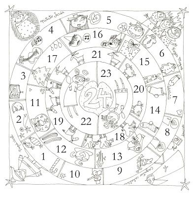 Blog de los niños: Dibujos para colorear de Navidad. Calendario de ...