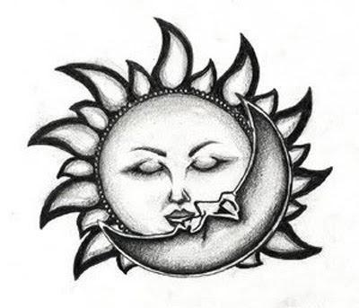 Moon Tattoo Designs on Sun Kiss Moon Tattoo Design