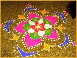 Southern India- Indian Flower - Rangoli