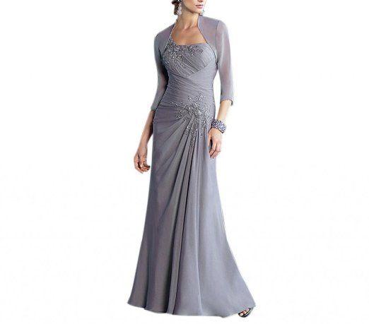 Amazon com dearta women s sheath one shoulder floor length chiffon