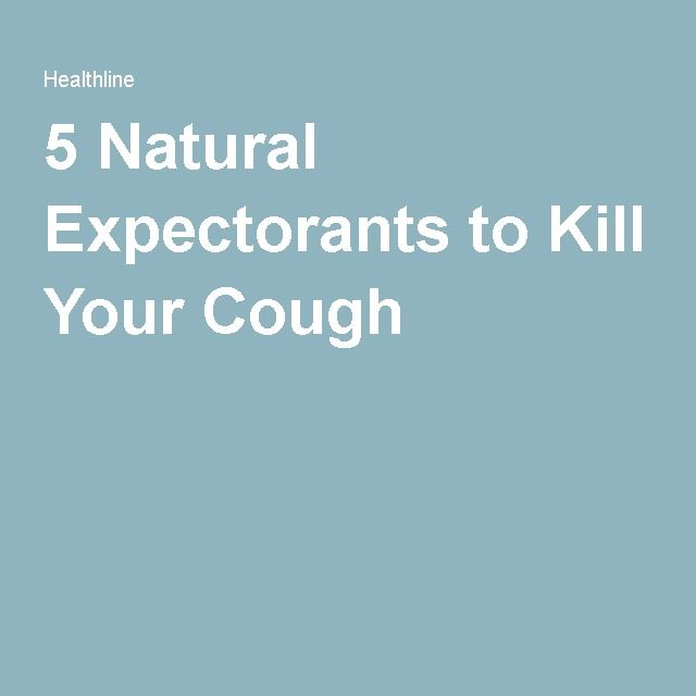 Cough Expectorant Natural Remedies