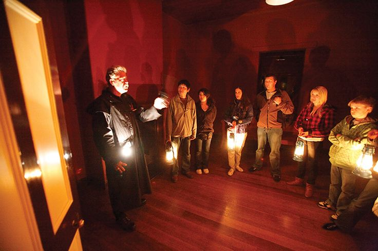 Ghost Tour outside The Church at Port Arthur. One of our Tassie Unique experiences picks (Tourism Tasmania & Simon Birch) #UniqueTassie @discovertas