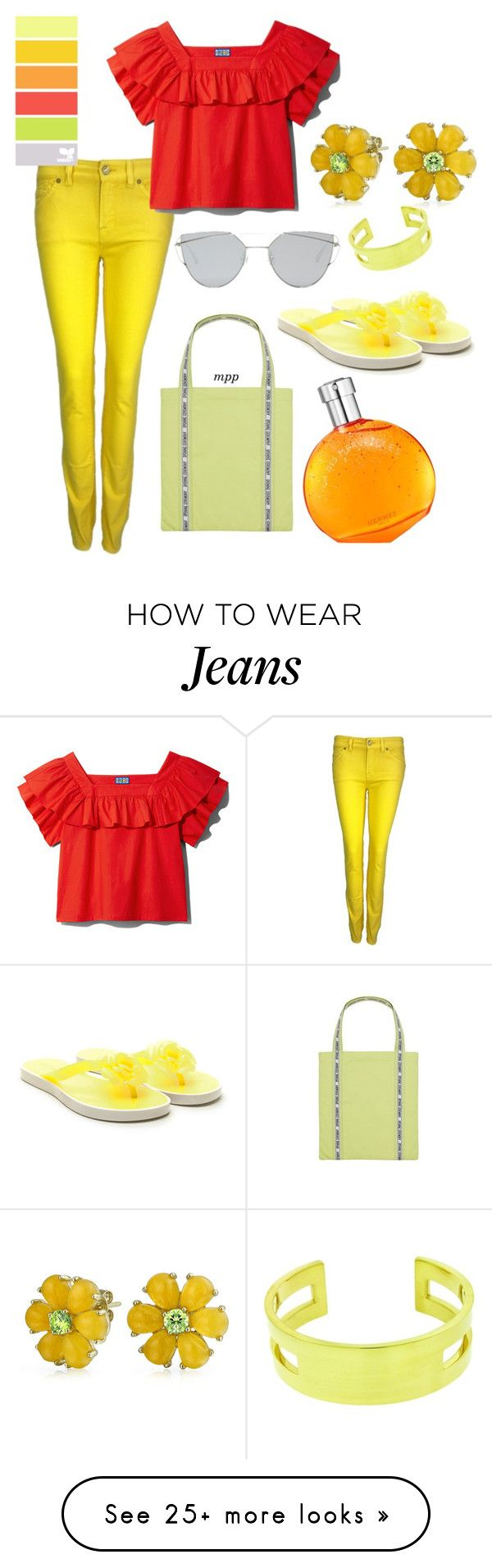 """Helping Hands"" by m-p-poppes on Polyvore featuring 7 For All Mankind, Opening Ceremony, Tiffany & Co., Gentle Monster, Bling Jewelry and Hermès"
