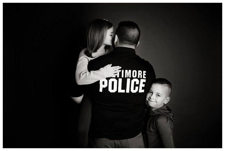 Baltimore Family Photographer , police, hero's, uniform,black and white