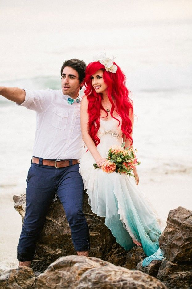 Little Mermaid Styled Wedding Shoot