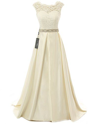 JAEDEN Vintage Wedding Dresses for Bride Simple Bridal Gown Cap Sleeve - http://www.darrenblogs.com/2016/08/jaeden-vintage-wedding-dresses-for-bride-simple-bridal-gown-cap-sleeve/