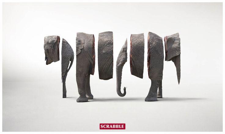 i like how the elephant is cut into slices.