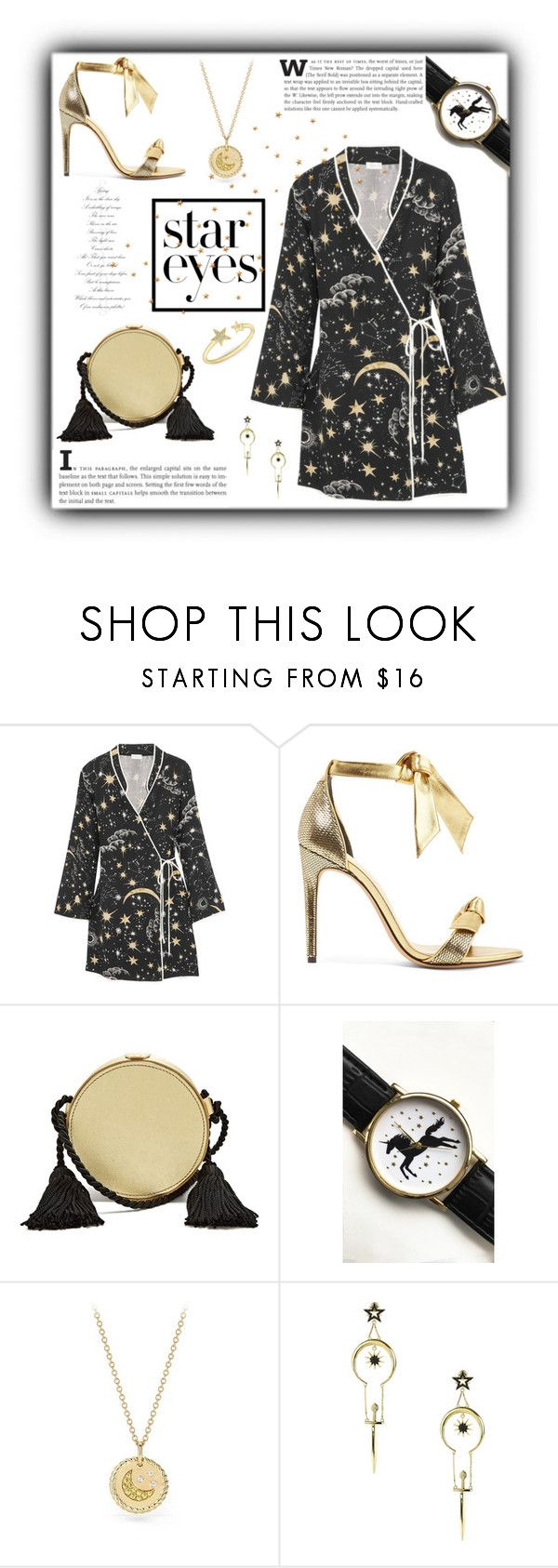 """#1539@"" by koi-beauty ❤ liked on Polyvore featuring RIXO London, Alexandre Birman, Hillier Bartley, Tallulah's Threads, David Yurman, nOir and StarOutfits"