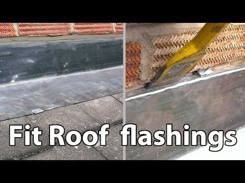 How to Install Lead Roof Flashings - Easy fit roof flashing DIY - YouTube