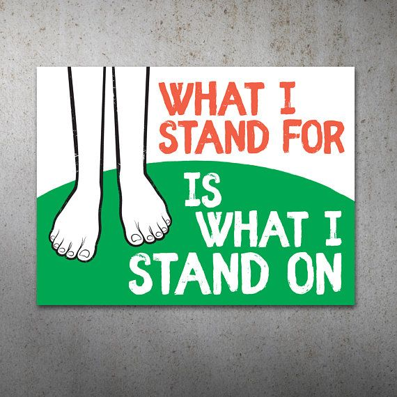 What I Stand For Science March PRINTABLE Protest Poster | What I Stand On, March For Science, Climate Change, Trump Protest Sign