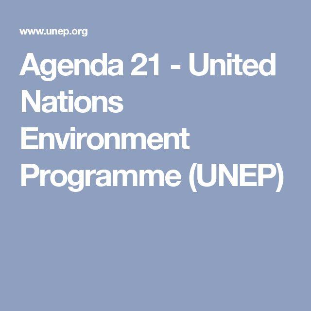 Agenda 21 - United Nations Environment Programme (UNEP)