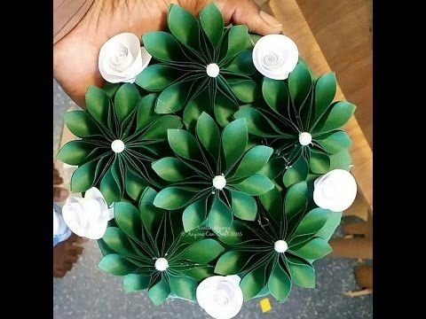 how to make a paper fold up ball decoration