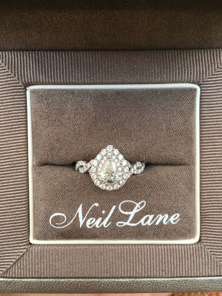 My Neil Lane Pear Diamond Engagement Ring - I am beyond in love!