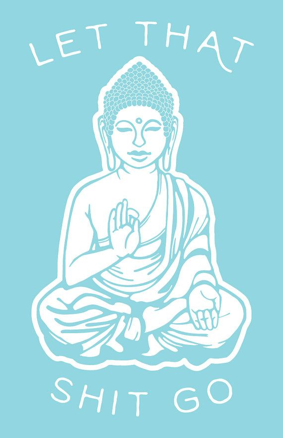 Let That Go Blue Buddha Art Print by SundazeSociety on Etsy