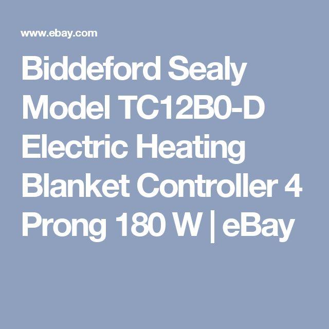 Biddeford Sealy Model TC12B0-D Electric Heating Blanket Controller 4 Prong 180 W   eBay
