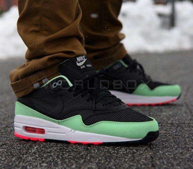 Nike Air Max 1 FB - Black / Fresh Mint / Pink Flash