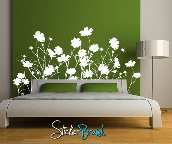 Vinyl Wall Decal Sticker Field Of Wild Flowers