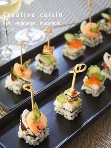 お洒落フィンガーミルフィーユ寿司前菜