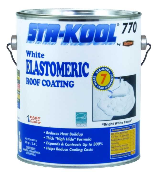 Gardner Gibson Sk7701 Sta Kool 770 7yr Elastic White 9 Gal At Sutherlands Elastomeric Roof Coating Cool Roof Roof Coating