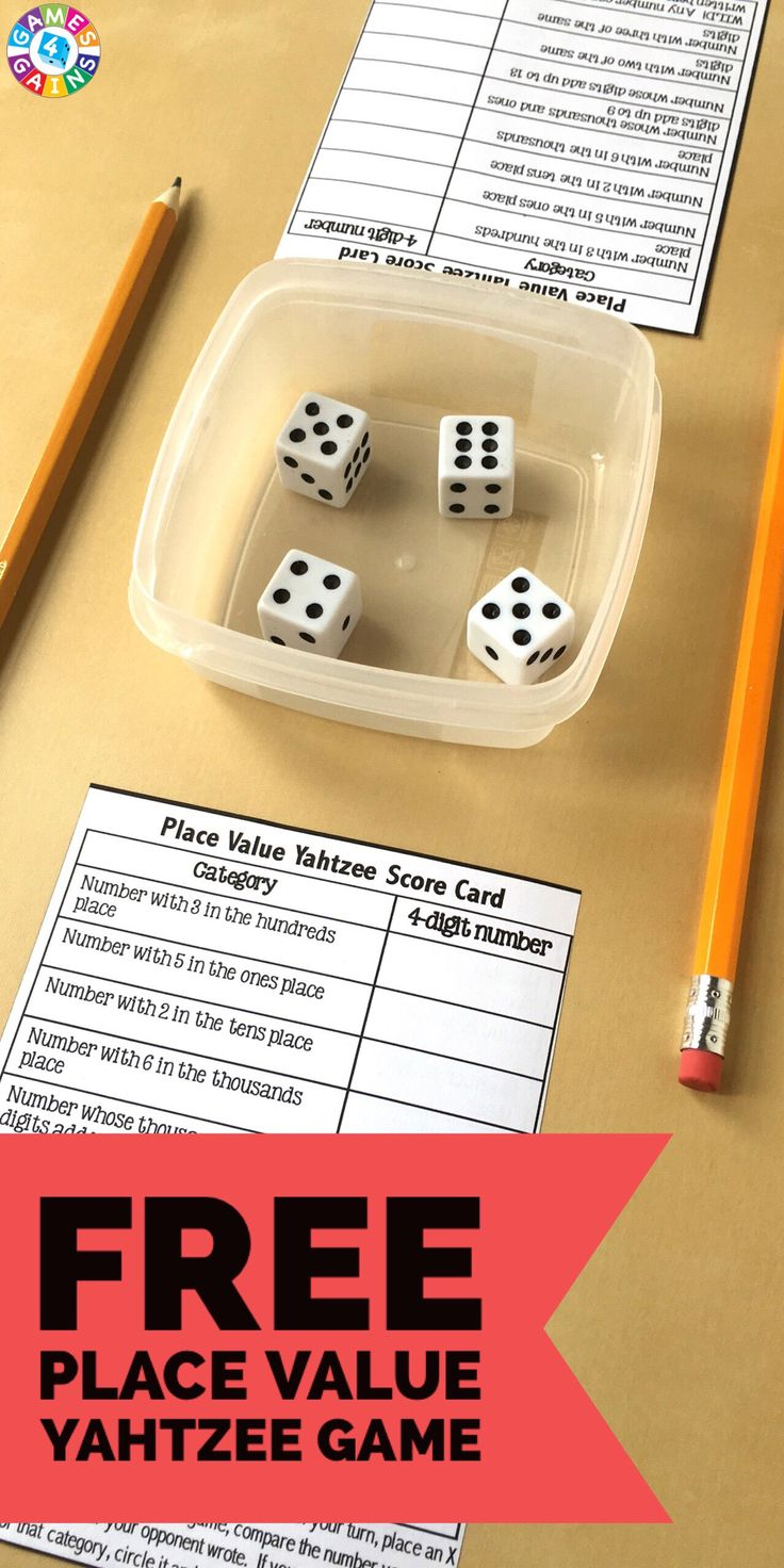 See More My Kids Love Place Value Yahtzee! Learn How To Play This Fun  Place Value Game