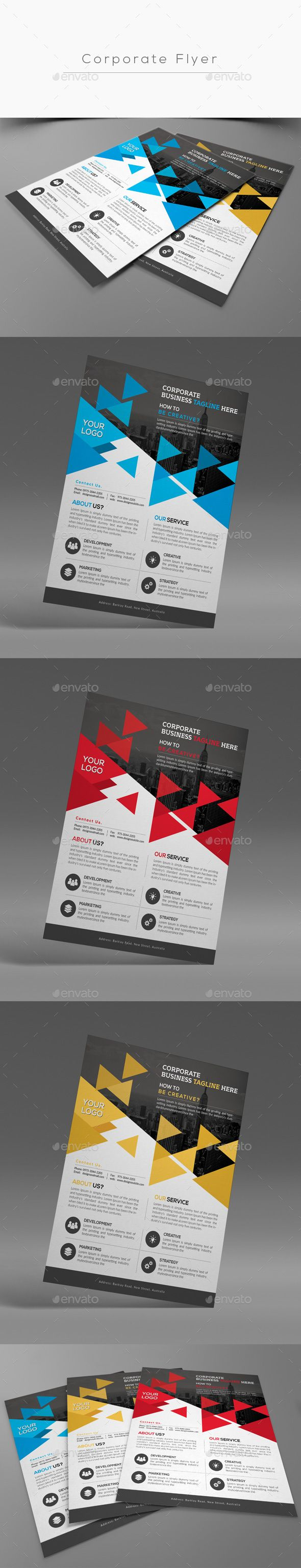 Corporate Flyer Template PSD #design Download: http://graphicriver.net/item/corporate-flyer/13961976?ref=ksioks