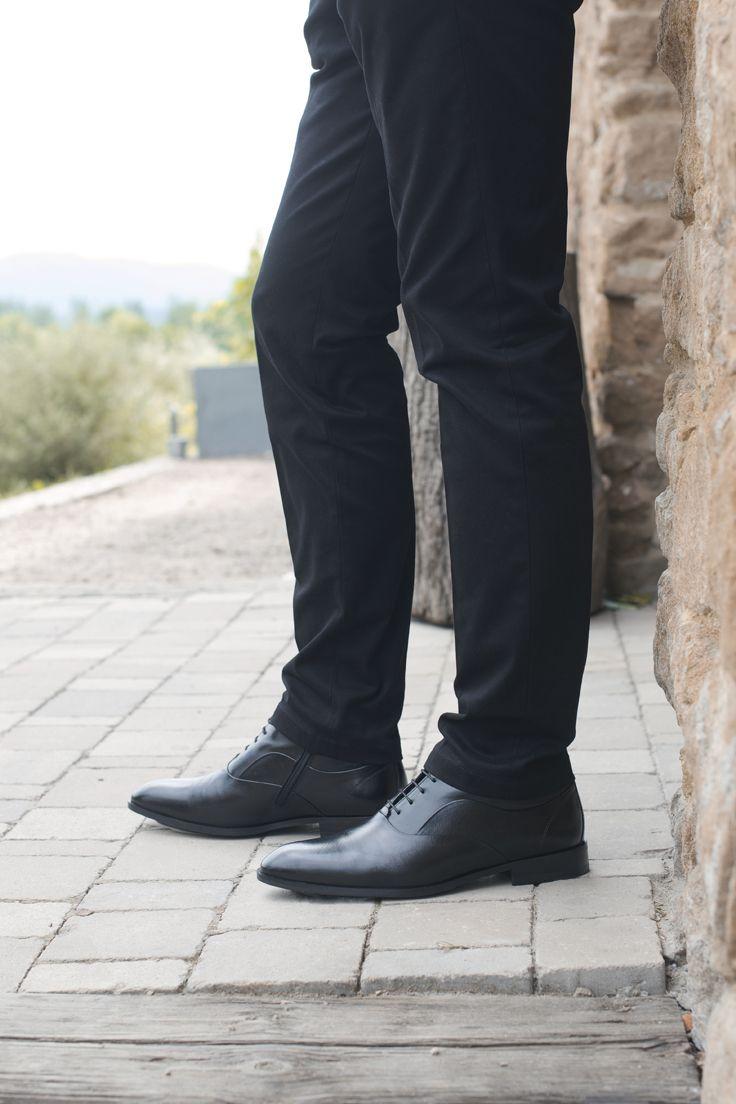 Trzewiki Czarne Skorzane Meskie Sergio Ce5926 01 Black Black Jeans Fashion
