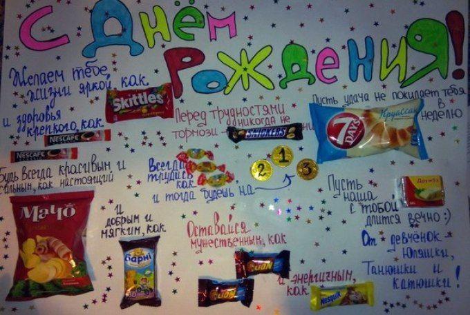 Сладкие открытки своими руками на день рождения подруге 9 лет