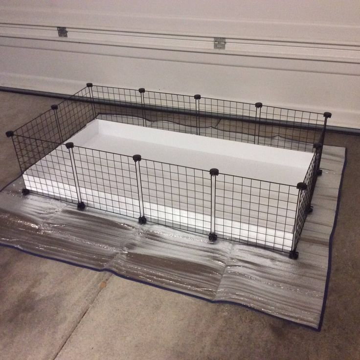 """2x4 CC Guinea Pig Cage 14"""" x 14"""" Wire Grid Black/White Panel Cage with White  Corrugated Plastic Rabbit Hedgehog 4 Panels Long 2 Panels Wide by LilFroggyDesigns on Etsy https://www.etsy.com/listing/484006619/2x4-cc-guinea-pig-cage-14-x-14-wire-grid"""