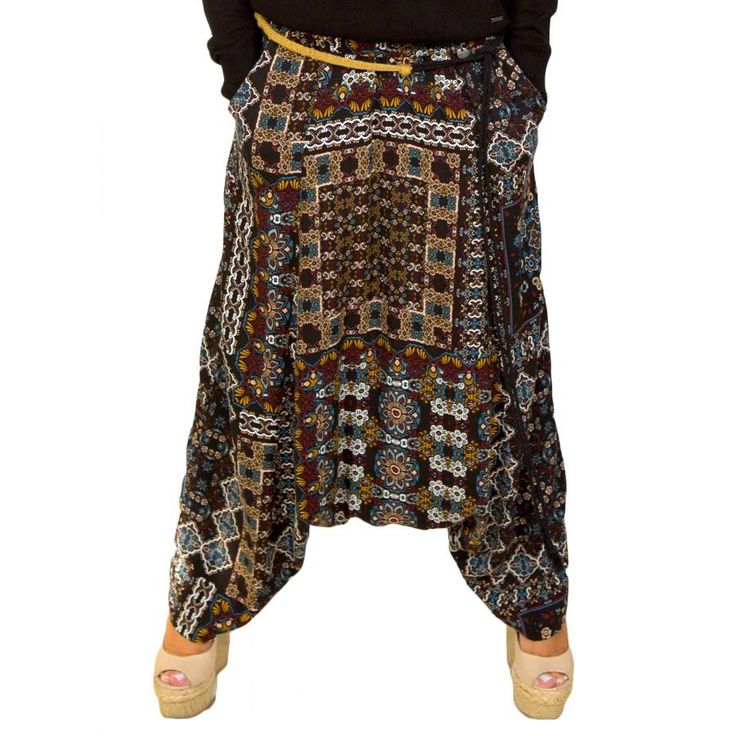 ATTRATTIVO Γυναικεία εμπριμέ βράκα παντελόνι