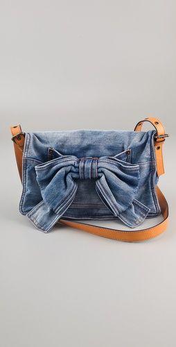 Valentino denim bow bag $394.00 ...like...for sure!