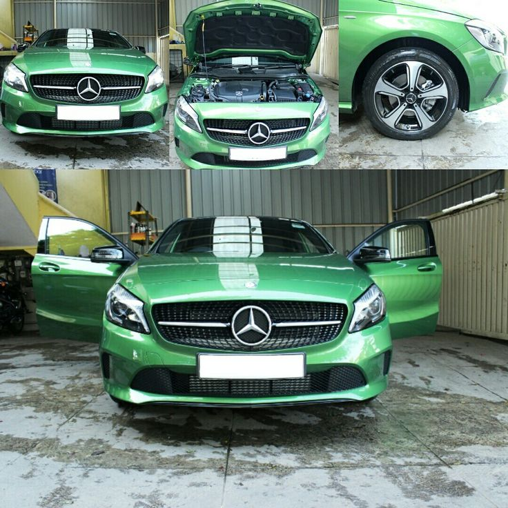 #sundarcarcare #carwash #allnew #mercedes #aclass #a200d #wheeloftransformation #mercedesbenzaclass #transformationthursday #nightedition #green #fastandfurious #luxury #hatchback