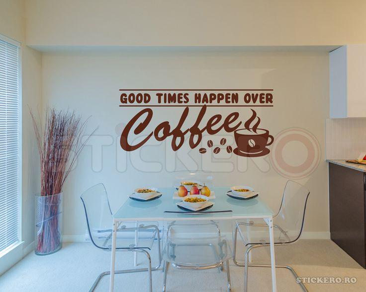 Coffee moments - sticker decorativ mesaj - Stickere decorative de perete - stickere auto - wall sticker