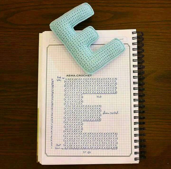 Mejores 285 imágenes de abecedario de crochet en Pinterest ...