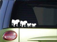 "Wish | Bulldog Family sticker  8.5"" wide vinyl english olde bulldogge Car Sticker"