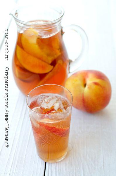 Холодный персиковый чай