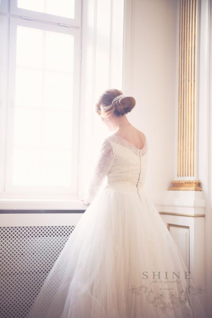 Beautiful bride, window light, wedding, Hotel Kungstradgarden Stockholm