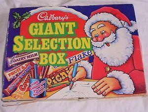 1986 cadburys selection box - vintage
