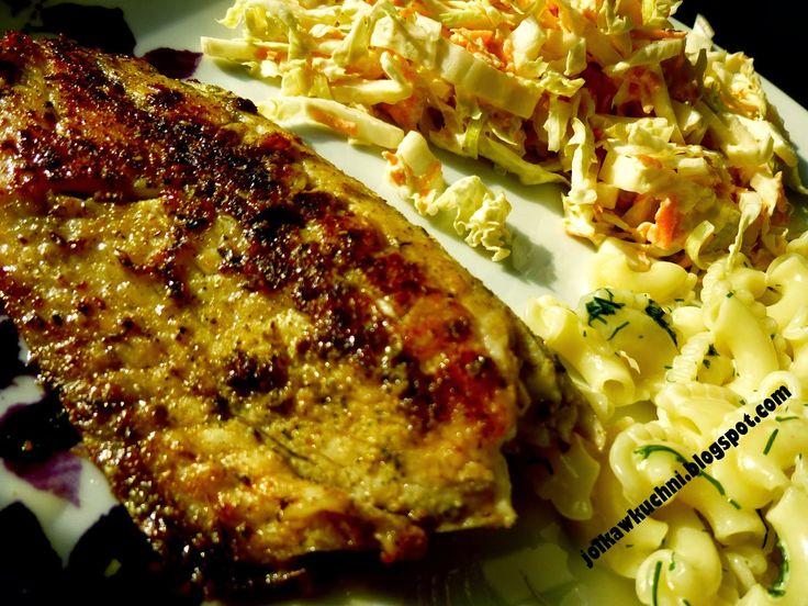 Jolka w kuchni: Tilapia z wiosenną sałatką i koperkowym makaronem