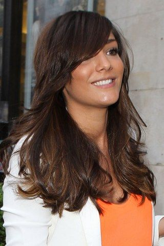 Frankie Sandford's long hair extensions