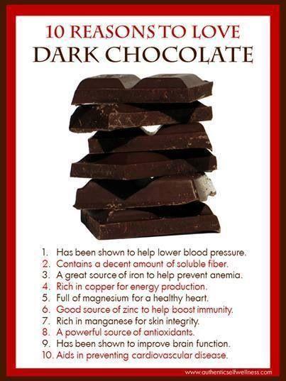 The benefits of dark chocolate
