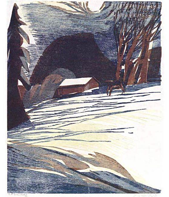 Heiner Bauschert, woodcut