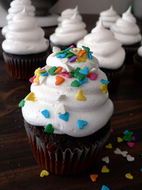 White cloud icing - super easy to make and it so oddly light that you can really pile it high. We love this icing!