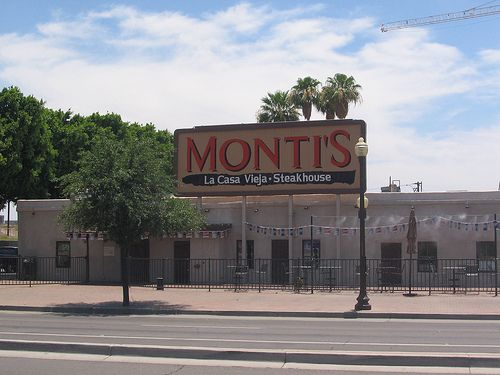 "Montis La Casa Vieja before Tempe's Front Porch was built and before the big old sign came down. Great burgers, steaks and seafood in the ""oldest continuously occupied"" building in Tempe."