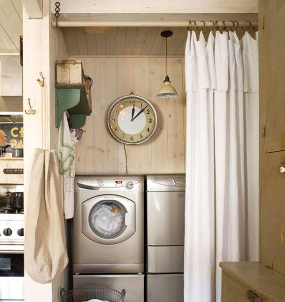 best 25 laundry room curtains ideas on pinterest. Black Bedroom Furniture Sets. Home Design Ideas