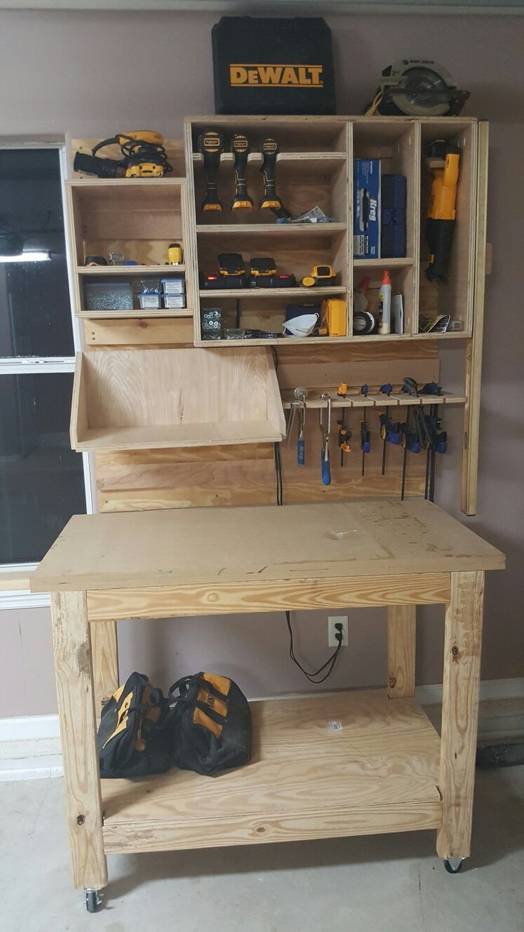 Garage tool storage on French cleat system