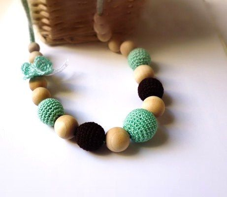 Nursing Necklace Necklace/Teething by Simplyacircle on Etsy