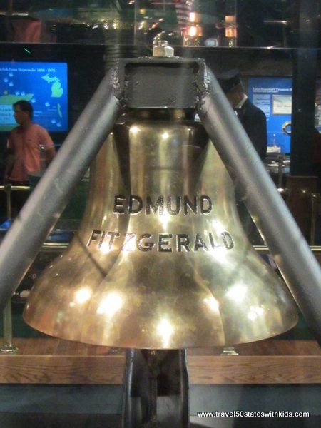 Michigan – Great Lakes Shipwreck Museum. The bell from the Edmund Fitzgerald