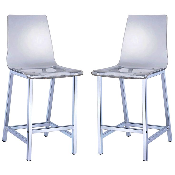 Add A Crisp Clean Look To Your Dining Area With These Contemporary Stools Features Contoured