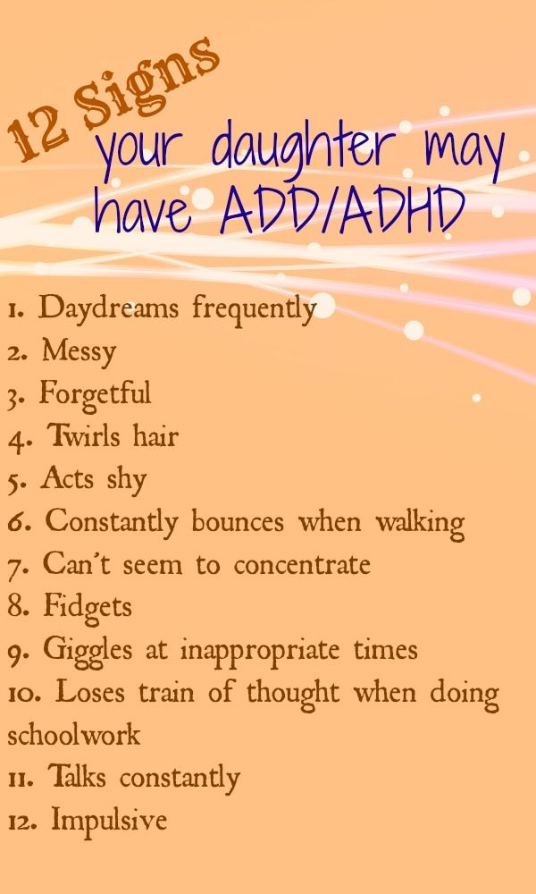 Signs of ADD/ADHD in Girls